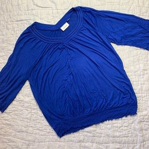 Avenue Blue Women Top 3/4 sleeve